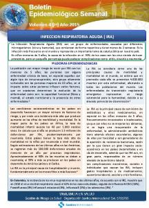 INFECCION RESPIRATORIA AGUDA ( IRA)