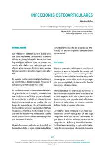 INFECCIONES OSTEOARTICULARES