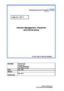 Infection Management, Prevention and Control policy