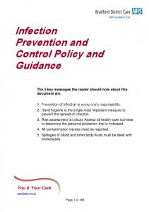 Infection Prevention and Control Policy and Guidance