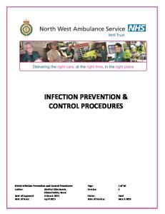 INFECTION PREVENTION & CONTROL PROCEDURES