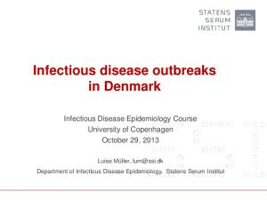 Infectious disease outbreaks in Denmark