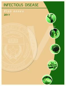 INFECTIOUS DISEASE. Plan Annex 2011