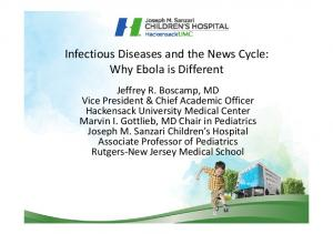 Infectious Diseases and the News Cycle: Why Ebola is Different