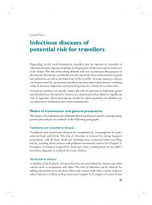 Infectious diseases of potential risk for travellers
