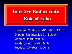 Infective Endocarditis Role of Echo