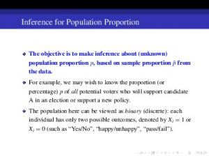 Inference for Population Proportion