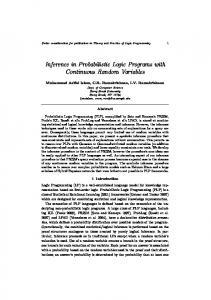 Inference in Probabilistic Logic Programs with Continuous Random Variables