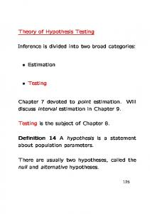 Inference is divided into two broad categories: