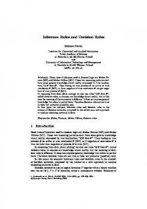 Inference Rules and Decision Rules