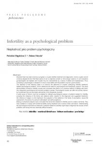 Infertility as a psychological problem