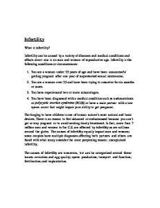 Infertility. What is infertility?