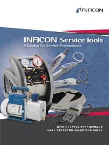 INFICON Service Tools A Catalog For Service Professionals