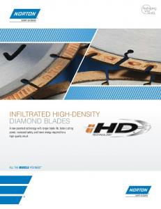 INFILTRATED HIGH-DENSITY DIAMOND BLADES