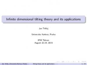 Infinite dimensional tilting theory and its applications