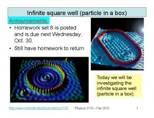 Infinite square well (particle in a box)