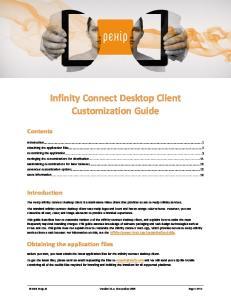 Infinity Connect Desktop Client Customization Guide
