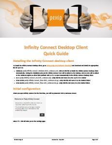 Infinity Connect Desktop Client Quick Guide