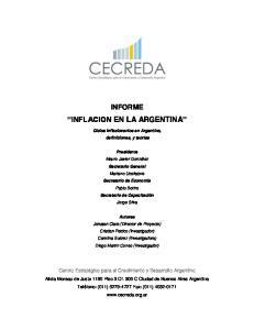 INFLACION EN LA ARGENTINA