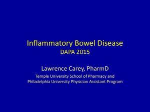 Inflammatory Bowel Disease DAPA 2015