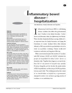 Inflammatory bowel. disease hospitalization