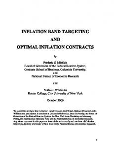 INFLATION BAND TARGETING AND OPTIMAL INFLATION CONTRACTS