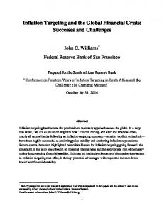 Inflation Targeting and the Global Financial Crisis: Successes and Challenges