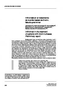 Infliximab in the treatment of patients with Crohn s disease. Preliminary report