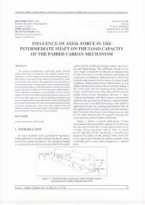 INFLUENCE OF AXIAL FORCE IN THE INTERMEDIATE SHAFT ON THE LOAD CAPACITY OF THE PAIRED CARDAN MECHANISM