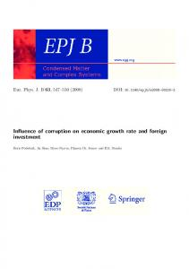 Influence of corruption on economic growth rate and foreign investment