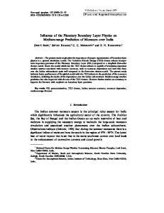 Influence of the Planetary Boundary Layer Physics on Medium-range Prediction of Monsoon over India