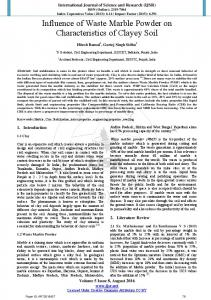 Influence of Waste Marble Powder on Characteristics of Clayey Soil