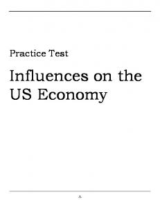 Influences on the US Economy