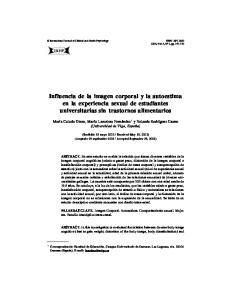 Influencia de la imagen corporal y la autoestima en la experiencia sexual de estudiantes universitarias sin trastornos alimentarios