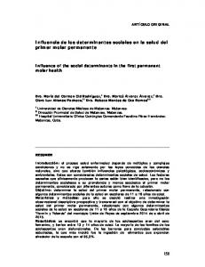 Influencia de los determinantes sociales en la salud del primer molar permanente