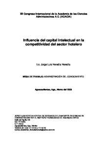 Influencia del capital intelectual en la competitividad del sector hotelero