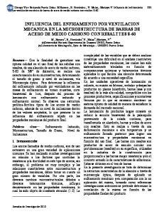 INFLUENCIA DEL ENFRIAMIENTO POR VENTILACION MECANICA EN LA MICROESTRUCTURA DE BARRAS DE ACERO DE MEDIO CARBONO CON RESALTTES S-60