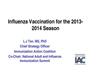 Influenza Vaccination for the Season