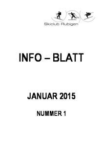 INFO BLATT JANUAR 2015 NUMMER 1
