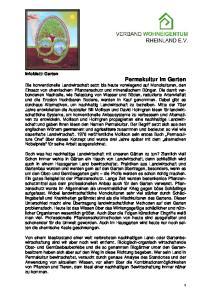 Infoblatt: Garten Permakultur im Garten perma culture