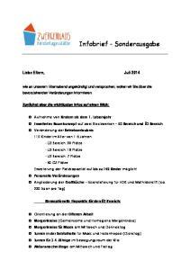 Infobrief - Sonderausgabe