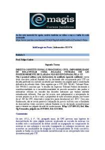 InfoEmagis em Pauta Informativo STJ 576. Rodada 2. Prof. Felipe Cadete. Segunda Turma