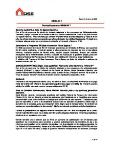 INFONAVIT. Diarios Nacionales INFONAVIT