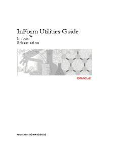 InForm Utilities Guide
