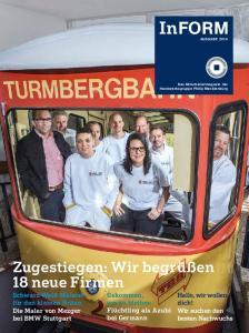 InFORM. Zugestiegen: Wir begrüßen 18 neue Firmen. Gekommen, um zu bleiben Flüchtling als Azubi bei Germann. Hallo, wir wollen dich!