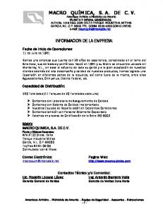 INFORMACION DE LA EMPRESA:
