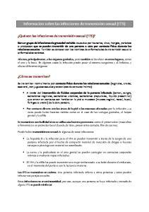 Información sobre las infecciones de transmisión sexual (ITS)