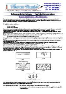 Informacje techniczne Czujniki temperatury