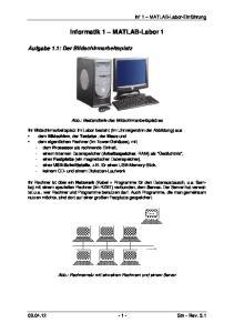 Informatik 1 MATLAB-Labor 1