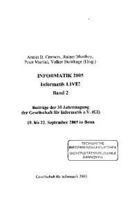 INFORMATIK 2005 Informatik LIVE! Band 2